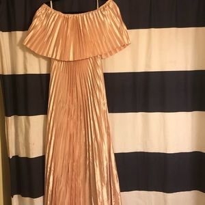 Milumia Dresses - Off The Shoulder Ruffle Maxi Dress Pink never worn